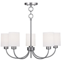 Livex Lighting Sussex 5 Light Chandelier/Ceiling Mount in Brushed Nickel 5265-91