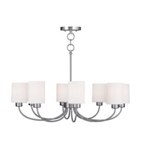 Livex Lighting Sussex 8 Light Chandelier/Ceiling Mount in Brushed Nickel 5268-91