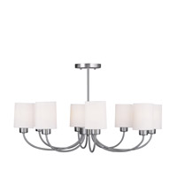 Livex Lighting Sussex 8 Light Chandelier/Ceiling Mount in Brushed Nickel 5268-91 alternative photo thumbnail