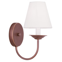 Livex Lighting Mendham 1 Light Wall Sconce in Vintage Bronze 5271-70