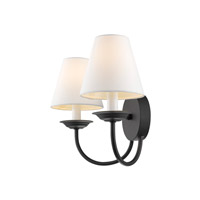 Livex 5272-04 Mendham 2 Light 15 inch Black Wall Sconce Wall Light alternative photo thumbnail