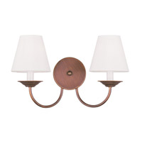 Livex Lighting Mendham 2 Light Wall Sconce in Vintage Bronze 5272-70