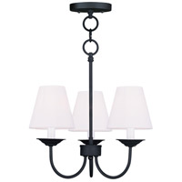 Livex Lighting Mendham 3 Light Pendant/Ceiling Mount in Black 5273-04