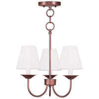 Livex Lighting Mendham 3 Light Pendant/Ceiling Mount in Vintage Bronze 5273-70