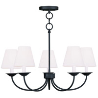 Livex Lighting Mendham 5 Light Chandelier/Ceiling Mount in Black 5275-04