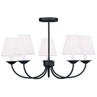 Livex 5275-04 Mendham 5 Light 25 inch Black Chandelier/Ceiling Mount Ceiling Light alternative photo thumbnail