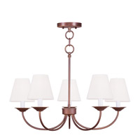 Livex Lighting Mendham 5 Light Chandelier/Ceiling Mount in Vintage Bronze 5275-70
