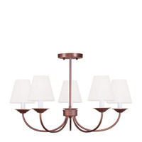 Livex Lighting Mendham 5 Light Chandelier/Ceiling Mount in Vintage Bronze 5275-70 alternative photo thumbnail