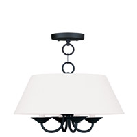 Livex Lighting Mendham 4 Light Chandelier in Black 5277-04