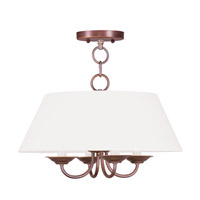 Livex Lighting Mendham 4 Light Chandelier in Vintage Bronze 5277-70