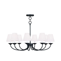 Livex Lighting Mendham 8 Light Chandelier/Ceiling Mount in Black 5278-04