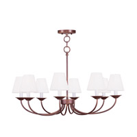 Livex Lighting Mendham 8 Light Chandelier/Ceiling Mount in Vintage Bronze 5278-70