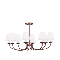 Livex 5278-70 Mendham 8 Light 31 inch Vintage Bronze Chandelier/Ceiling Mount Ceiling Light alternative photo thumbnail