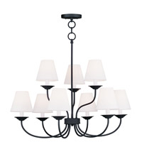 Livex Lighting Mendham 9 Light Chandelier in Black 5279-04