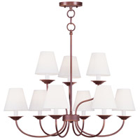 Livex 5279-70 Mendham 9 Light 28 inch Vintage Bronze Chandelier Ceiling Light