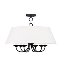 Livex Lighting Mendham 6 Light Chandelier in Black 5282-04