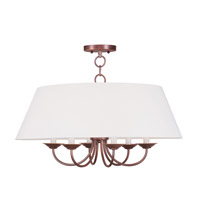 Livex Lighting Mendham 6 Light Chandelier in Vintage Bronze 5282-70 photo thumbnail