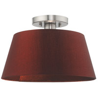 Livex 52902-91 Belclaire 1 Light 13 inch Brushed Nickel Flush Mount Ceiling Light