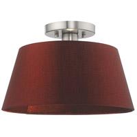 Livex 52902-91 Belclaire 1 Light 13 inch Brushed Nickel Flush Mount Ceiling Light