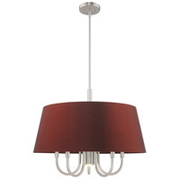 Livex 52905-91 Belclaire 6 Light 24 inch Brushed Nickel Pendant Chandelier Ceiling Light