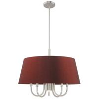 Livex 52905-91 Belclaire 6 Light 24 inch Brushed Nickel Pendant Chandelier Ceiling Light