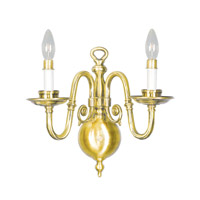 Livex Lighting Beacon Hill 2 Light Wall Sconce in Polished Brass 5302-02
