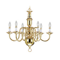 Livex Lighting Beacon Hill 6 Light Chandelier in Polished Brass 5306-02