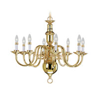Livex Lighting Beacon Hill 8 Light Chandelier in Polished Brass 5308-02