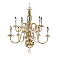 Livex Lighting Beacon Hill 10 Light Chandelier in Polished Brass 5310-02
