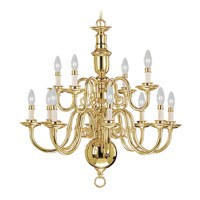 Livex Lighting Beacon Hill 12 Light Chandelier in Polished Brass 5312-02