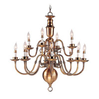 Livex Lighting Beacon Hill 12 Light Chandelier in Flemish Brass 5312-22