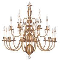 Livex 5321-22 Beacon Hill 22 Light 42 inch Flemish Brass Chandelier Ceiling Light