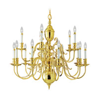 Livex Lighting Wakefield 15 Light Chandelier in Polished Brass 5340-02