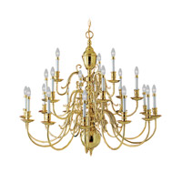 Wakefield 21 Light 42 inch Polished Brass Chandelier Ceiling Light
