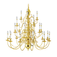 Wakefield 24 Light 48 inch Polished Brass Chandelier Ceiling Light