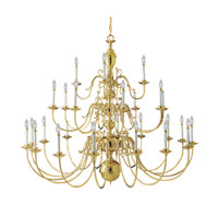 Livex 5345-02 Wakefield 28 Light 60 inch Polished Brass Chandelier Ceiling Light photo thumbnail