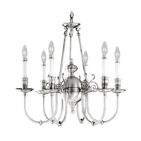 Livex Lighting Kensington 6 Light Chandelier in Brushed Nickel 5371-91