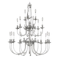 Livex Lighting Kensington 22 Light Chandelier in Brushed Nickel 5374-91
