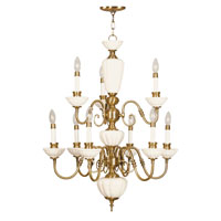 Livex Lighting Beacon Hill 9 Light Chandelier in Flemish Brass 5383-22