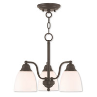Livex 53853-07 Somerville 3 Light 16 inch Bronze Dinette Chandelier Ceiling Light