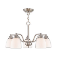 Somerville 5 Light 24 inch Brushed Nickel Dinette Chandelier Ceiling Light
