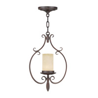 Livex Lighting Millburn Manor 1 Light Mini Pendant in Imperial Bronze 5480-58