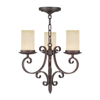 Livex 5483-58 Millburn Manor 3 Light 17 inch Imperial Bronze Mini Chandelier Ceiling Light