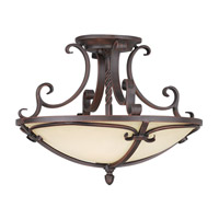 Livex Lighting Millburn Manor 4 Light Ceiling Mount in Imperial Bronze 5484-58