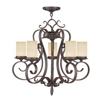 Livex 5485-58 Millburn Manor 5 Light 26 inch Imperial Bronze Chandelier Ceiling Light