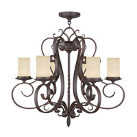 Livex Lighting Millburn Manor 6 Light Chandelier in Imperial Bronze 5486-58