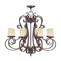 Livex 5488-58 Millburn Manor 8 Light 36 inch Imperial Bronze Chandelier Ceiling Light