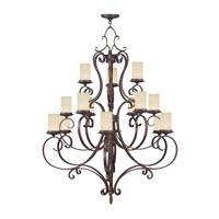 Livex Lighting Millburn Manor 15 Light Chandelier in Imperial Bronze 5497-58