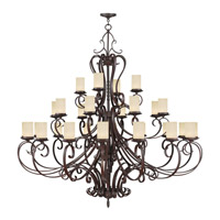 Livex Lighting Millburn Manor 28 Light Chandelier in Imperial Bronze 5498-58