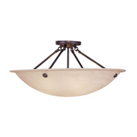 Livex Lighting Home Basics 4 Light Ceiling Mount in Bronze 5627-07 photo thumbnail
